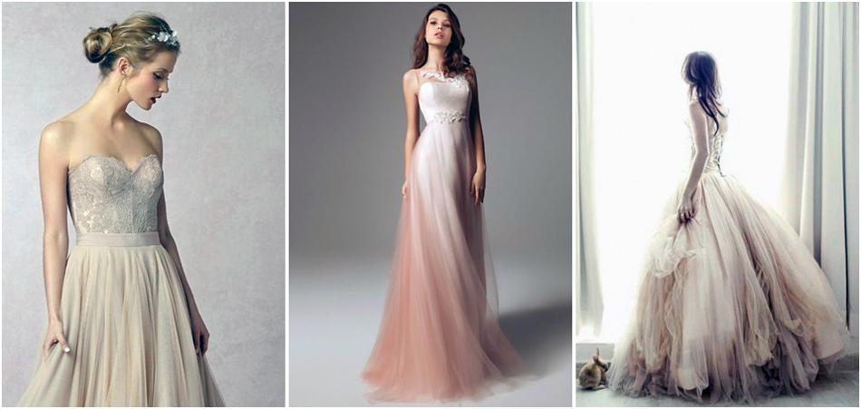 06960ddf4d A menyasszonyi ruha általában fehér, de a kiválasztott szín világos tónusai  is megjelenhetnek benne finom árnyalatok formájában.
